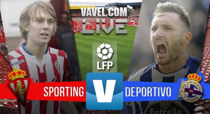 Resultado Sporting vs Deportivo en La Liga 15/16: empate y gracias (1-1)