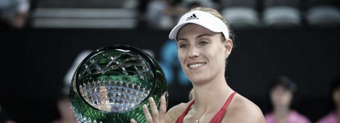 Kerber é campeã do WTA de Sidney após sua nona vitória consecutiva no ano