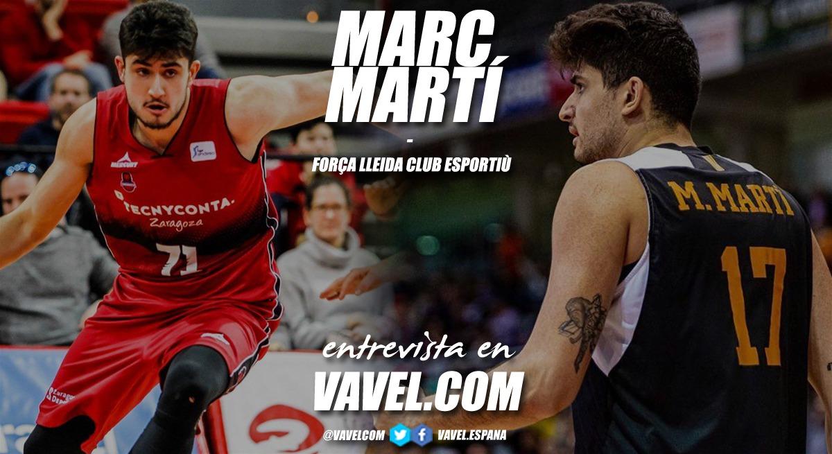 """Entrevista. Marc Martí: """"Voy a intentar al máximo volver a jugar en la ACB"""""""