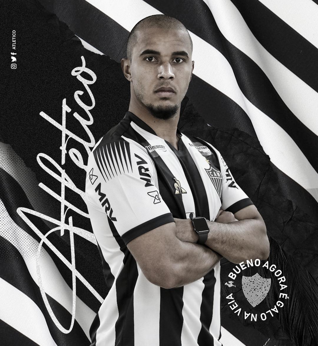Atlético-MG oficializa zagueiro brasileiro Bueno, que nunca atuou no país