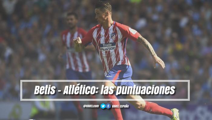 Betis - Atlético de Madrid: puntuaciones del Atleti, jornada 15 de la Liga Santander