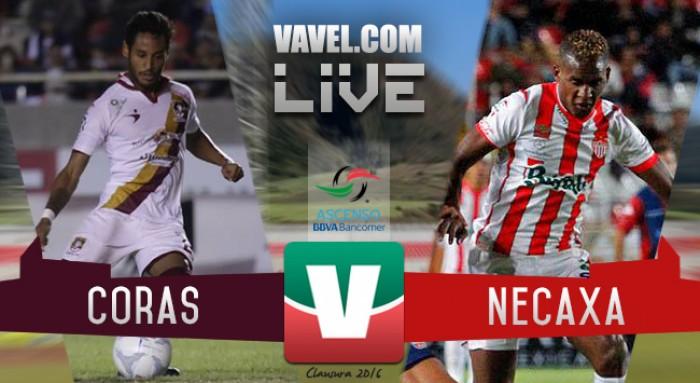 Resultado Coras - Necaxa en Ascenso MX 2016 (0-0)