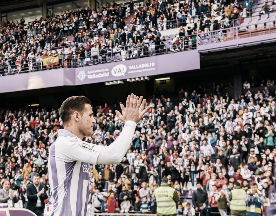 Luismi vuelve a lucir la camiseta del Real Valladolid ante el Salamanca