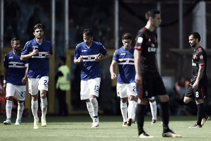 Milan cria pouco, perde para Sampdoria e se afasta dos primeiros colocados