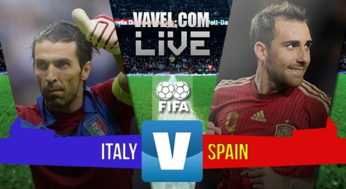 Risultato Italia 1-1 Spagna in amichevole internazionale 2016