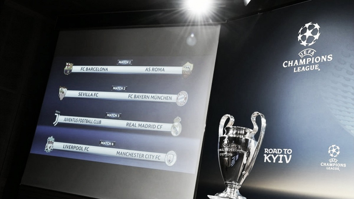 Juventus-Real Madrid y Barcelona-Roma en los Cuartos de Final de la ...