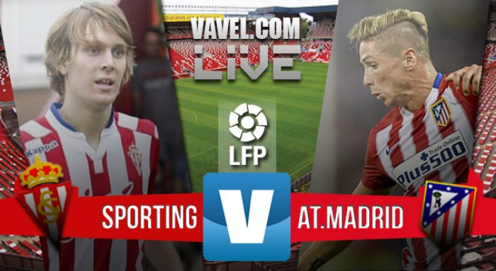Resultado Sporting de Gijón 2-1 Atlético de Madrid en Liga 2016