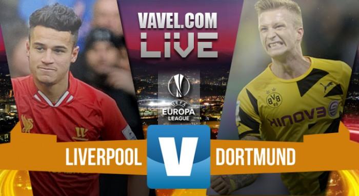 Resultado Liverpool x Borussia Dortmund pela Uefa Europa League 2015/16 (4-3)