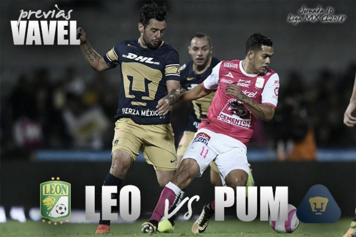 Previa León - Pumas: con hambre de victoria