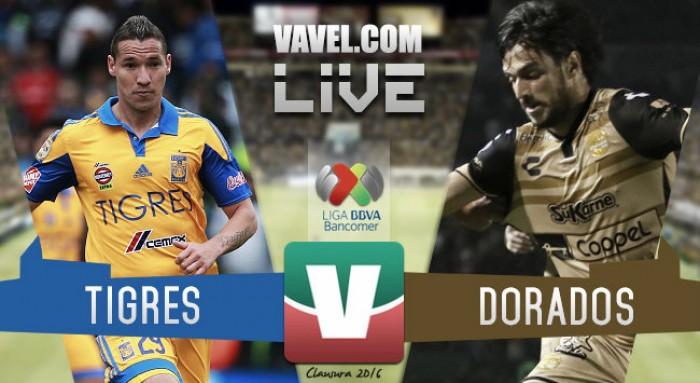 Resultado Tigres - Dorados en Liga MX 2016 (5-2)