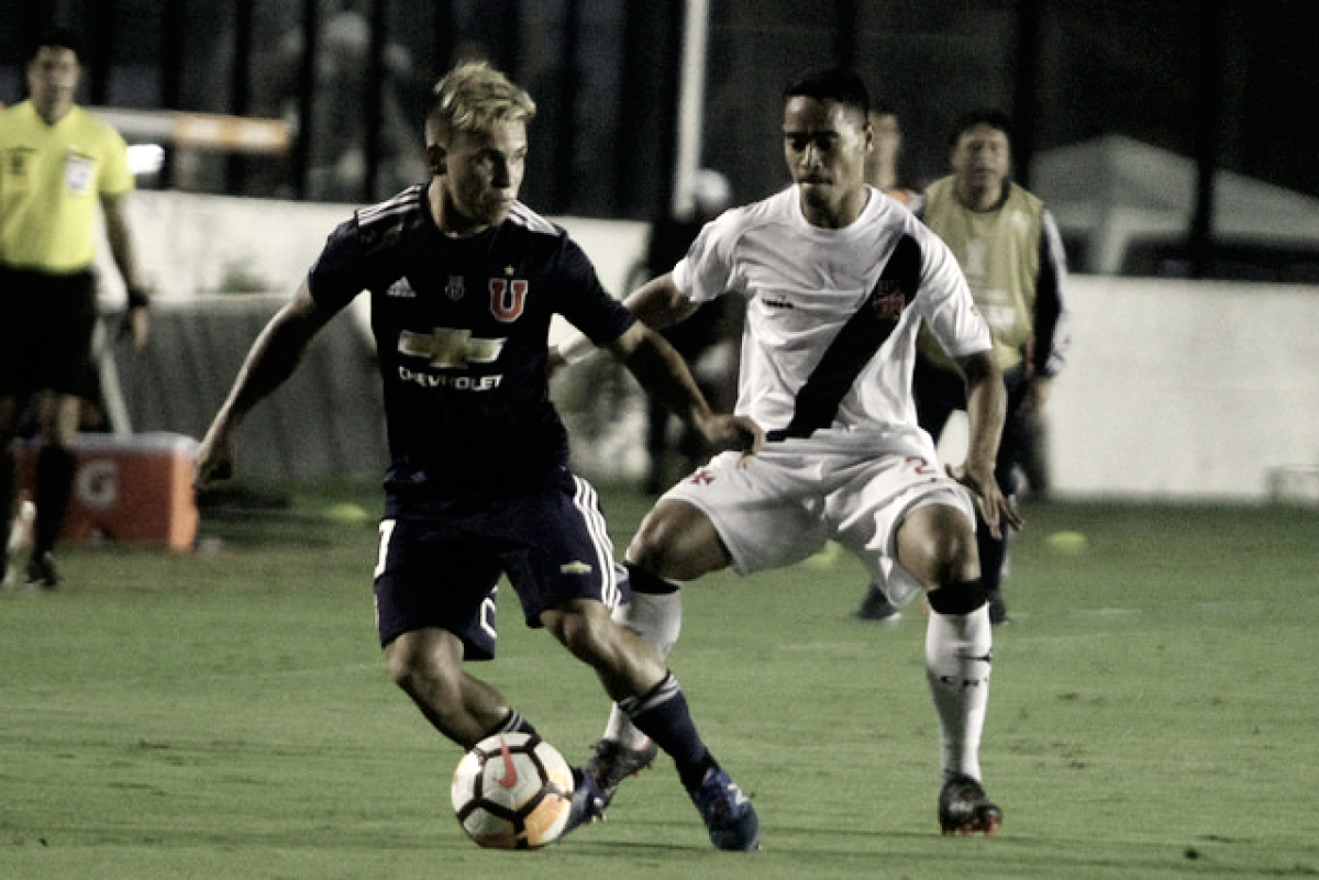 Resultado de Universidad de Chile X Vasco pela Libertadores 2018 (0-2)
