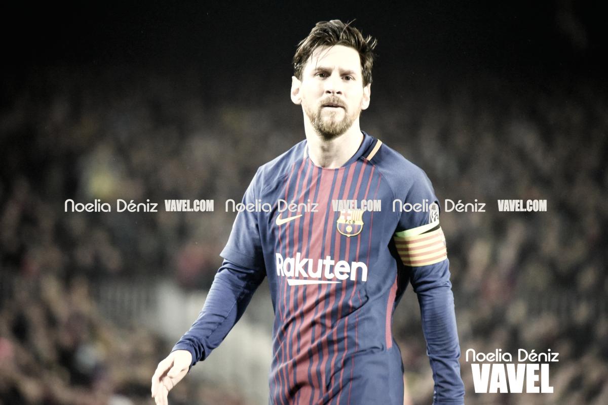 Reconocimiento a Messi antes del Barça-Roma