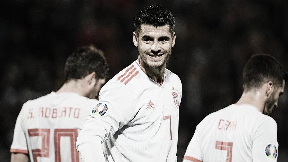 Morata sí le sonríe al gol ante Malta