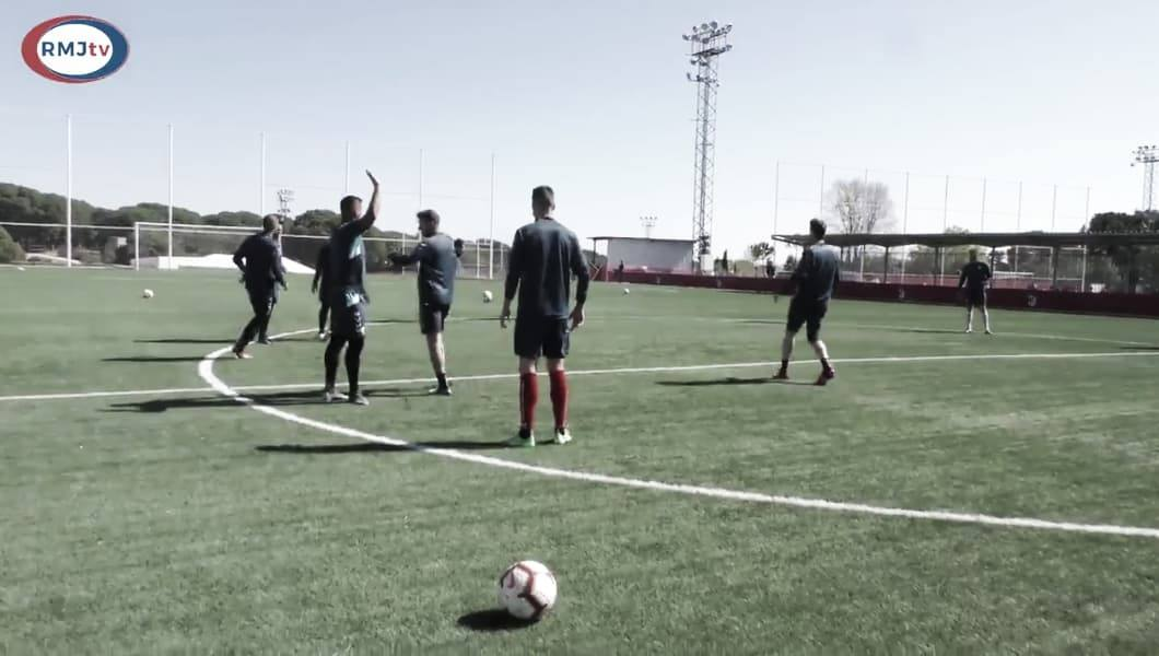 Primera sesión de entrenamiento de cara al partido ante Almería