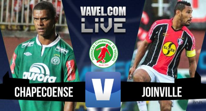Resultado Chapecoense x Joinville na final Campeonato Catarinense 2016 (1-1)