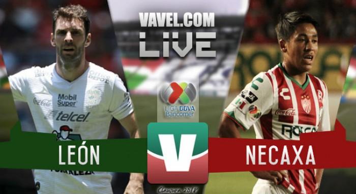 Resultado y goles del partido León 4-0 Necaxa de la Liga MX 2018