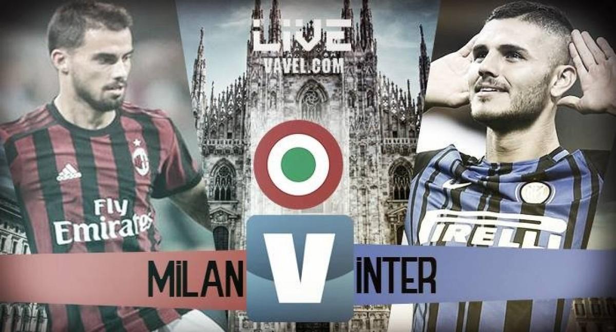 Risultato Milan - Inter in diretta, LIVE Serie A 2017/18 (0-0)