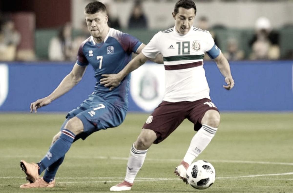 Puntuaciones México 3 - 0 Islandia, una victoria llena de experimentos