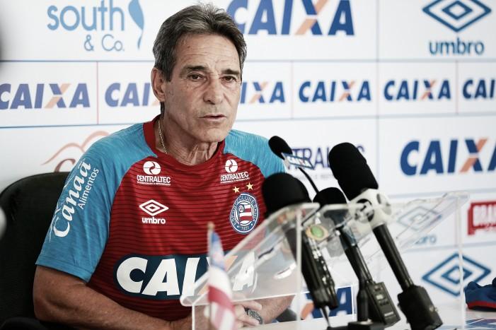 """Carpegiani elogia rendimento do Bahia, mesmo com empate: """"Agrada a maneira como jogamos"""""""