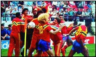 Un empate triunfal ante Alemania en 1990