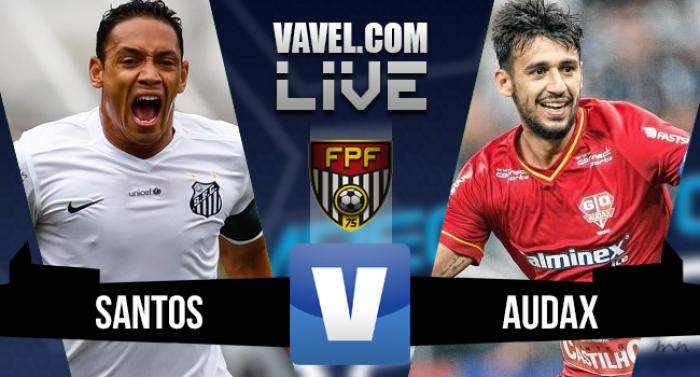 Resultado Santos x Audax na final do Campeonato Paulista (1-0)