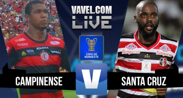 Resultado Campinense x Santa Cruz na Final Copa do Nordeste (1-1)