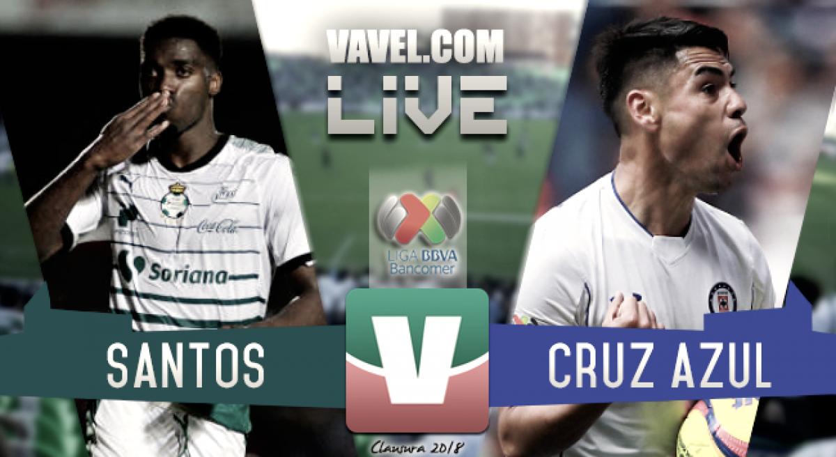 Resultado y goles del Santos (2-0) Cruz Azul