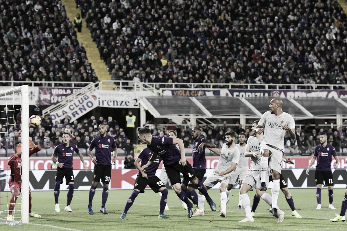 Fiorentina sai na frente com pênalti polêmico, mas Roma arranca empate no fim