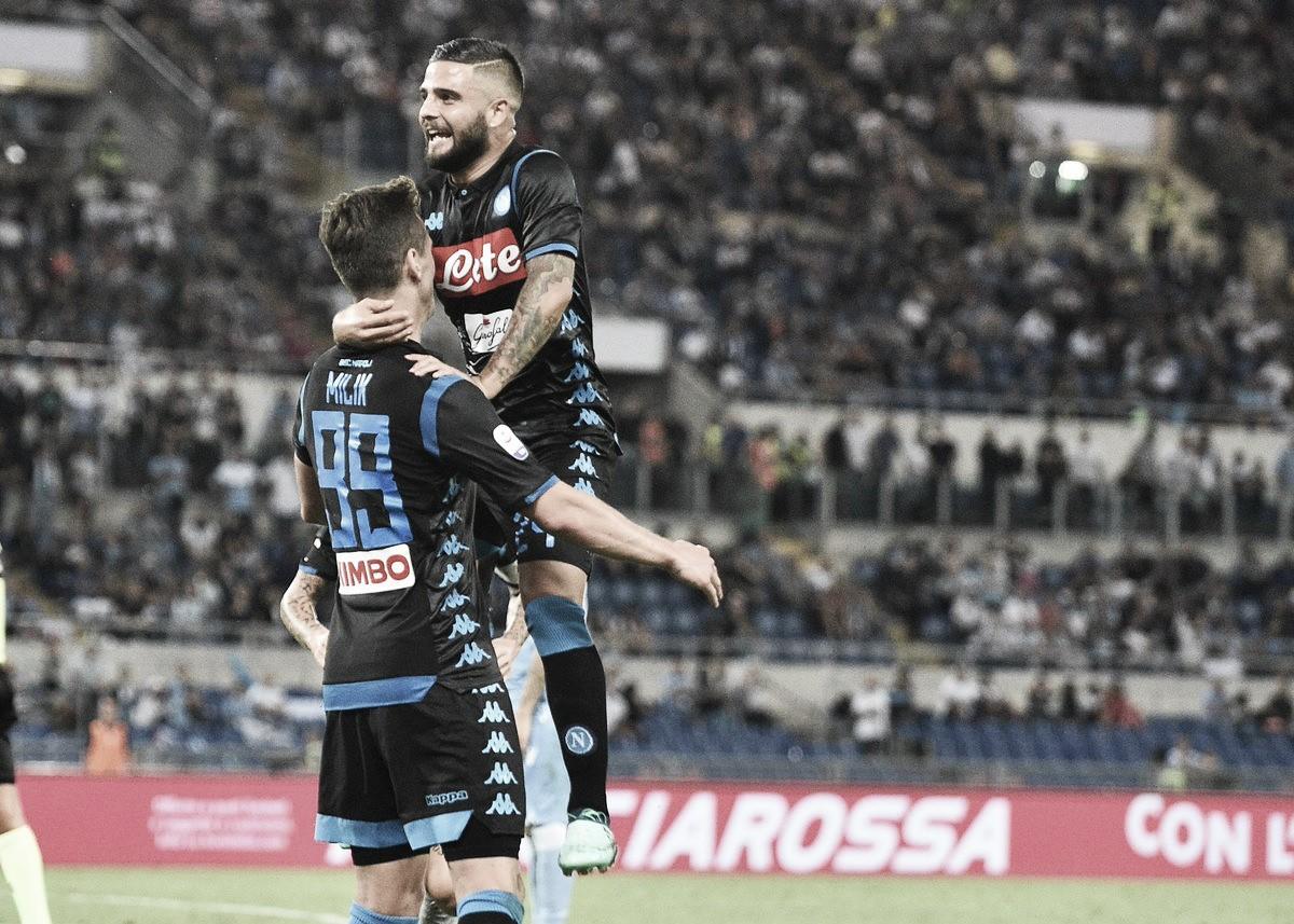 Immobile marca golaço, mas Napoli vira partida e vence Lazio no Olímpico