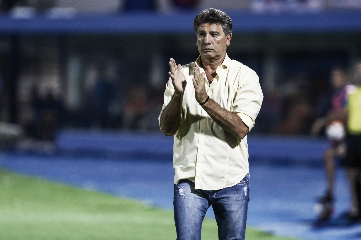 Renato Gaúcho comemora empate fora de casa, mas lamenta falta de pontaria do Grêmio