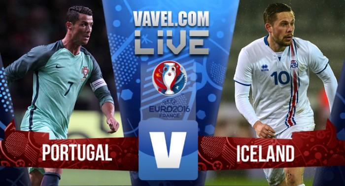 Resultado Portugal x Islândia na Euro 2016 (1-1)