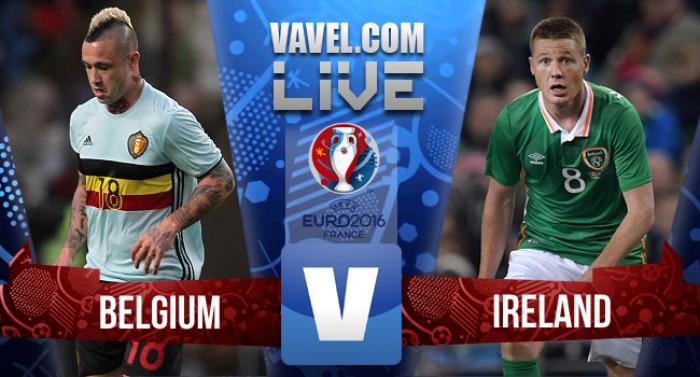 Resultado Bélgica x Irlanda pela Eurocopa (3-0)