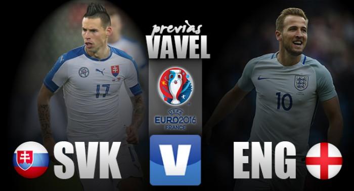 Eslováquia e Inglaterra se enfrentam por vaga nas oitavas da Eurocopa