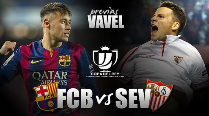 Campeões, Barcelona e Sevilla decidem Copa do Rei em busca do segundo título na temporada