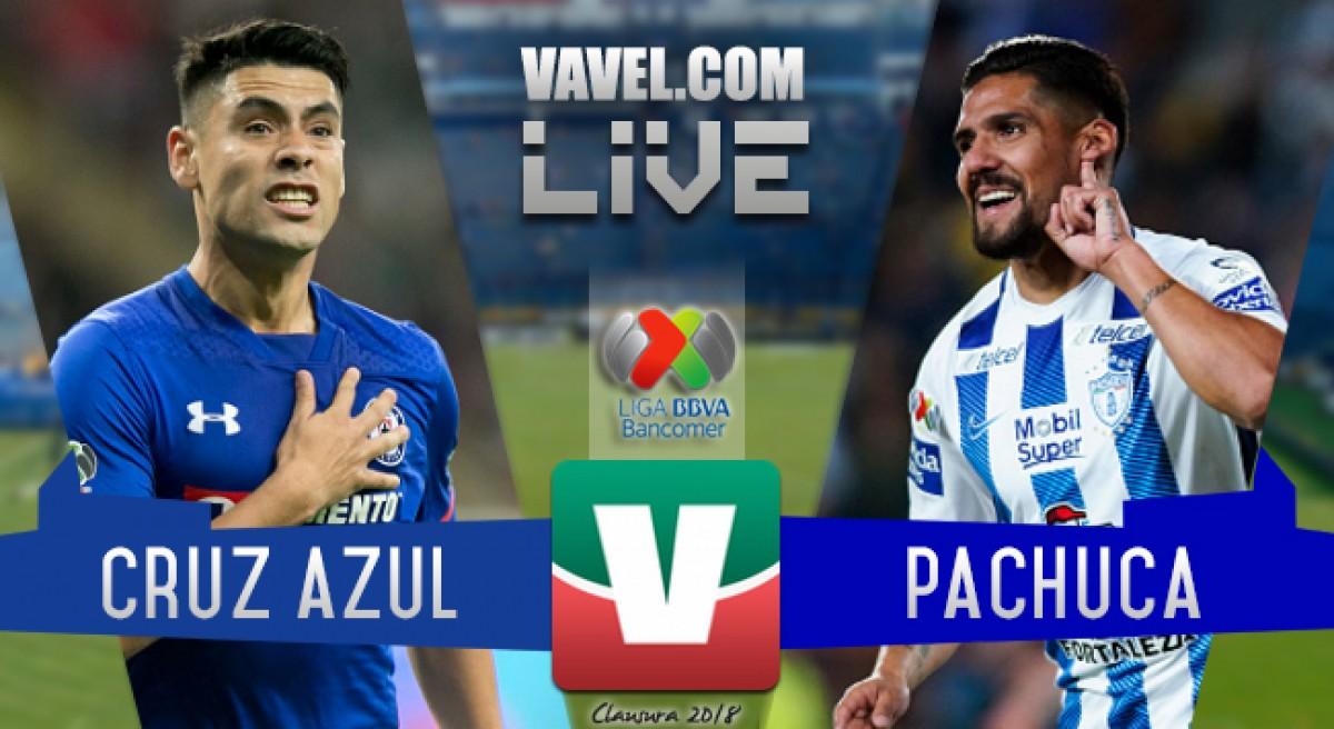 Resultado y goles del Cruz Azul vs Pachuca en Liga MX 2018 (5-0)