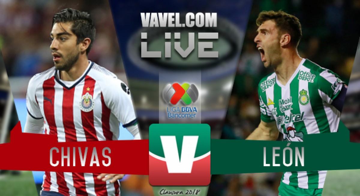 Goles del partido Chivas vs León en Liga MX 2018 (0-2)