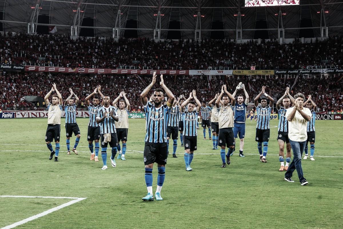 Grêmio entra em campo contra Internacional esperando quebrar tabu na Arena