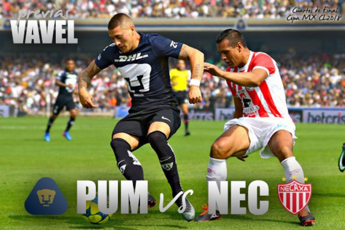 Previa Pumas vs Necaxa: la Copa, una vitrina de escapatoria