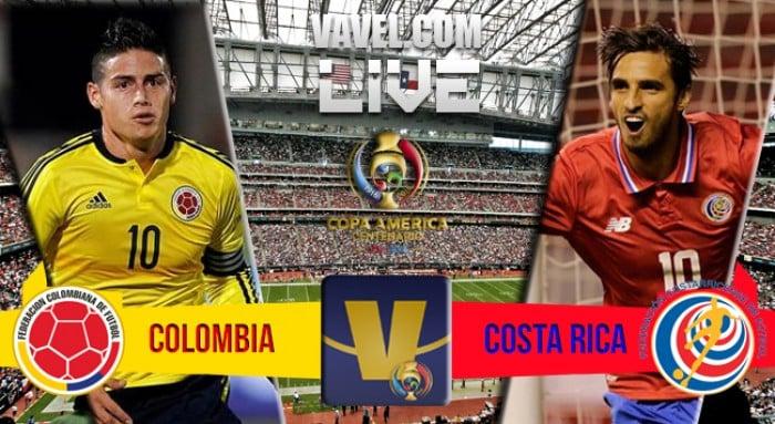 Resultado Colômbia x Costa Rica na Copa América Centenário (2-3)