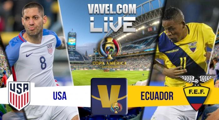 Resultado Estados Unidos x Equador na Copa América Centenário (2-1)