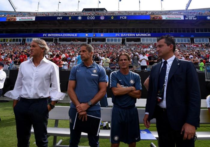 Inter, Mancini al termine della gara col Bayern