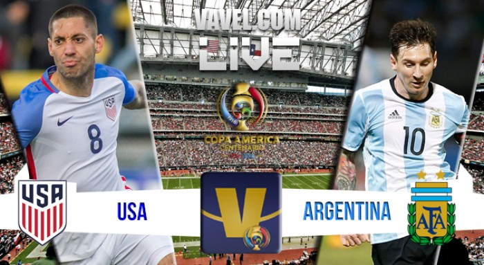 Resultado final Estados Unidos 0 - Argentina 4