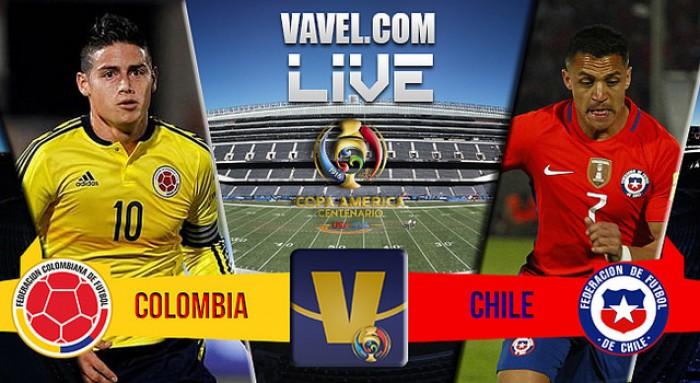 Score Chile vs Colombia in Copa America Centenario Semifinal (2-0)