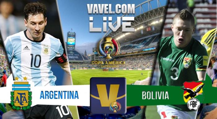Resultado Argentina x Bolívia na Copa América Centenário(2-0)