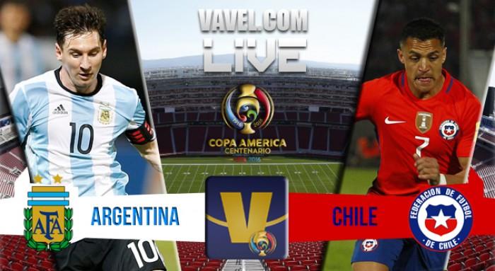 Resultado Argentina x Chile pela Copa América Centenário 2016 (2-1)