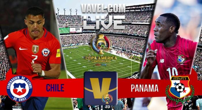 Score Chile v Panama in Copa America Centenario (4-2)