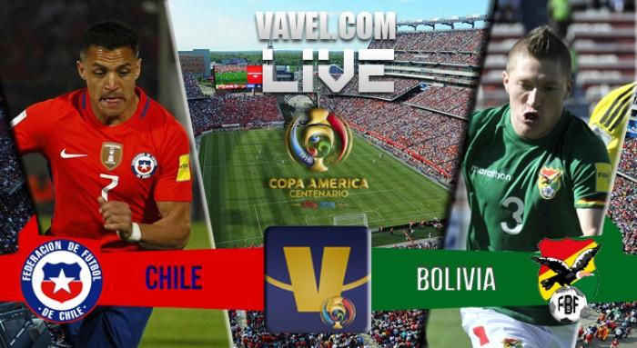 Resutado Chile x Bolívia na Copa América Centenário (2-1)