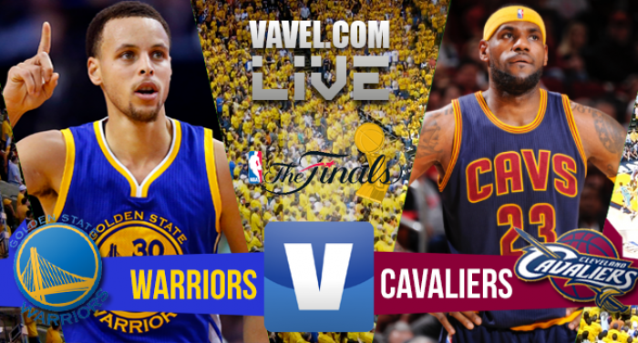 Resultado Golden State Warriors x Cleveland Cavaliers no NBA Finals 2015/2016 (104-89)