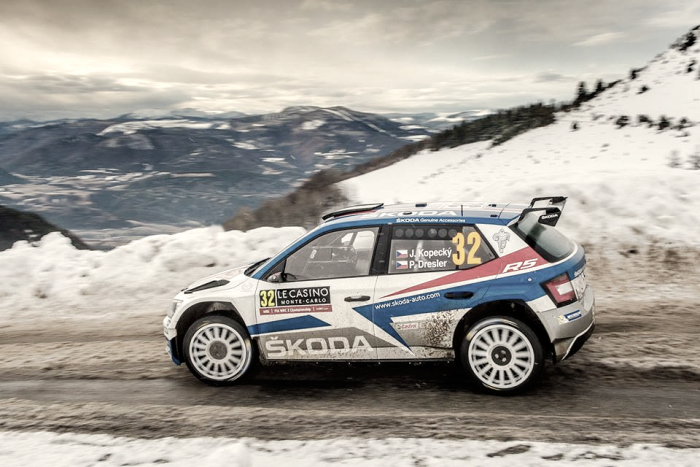 Kopecky se hace con la WRC2 en Monte Carlo