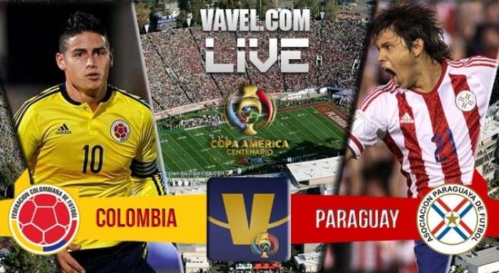 Resultado Colômbia x Paraguai na Copa América Centenário (2-1)
